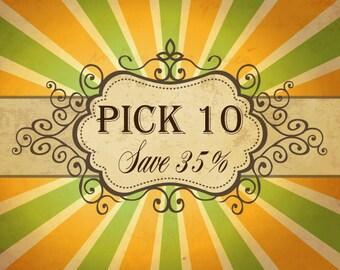 Lily Bird Studio Pick 10 pdf patrons et tutoriel - économisez 35 % - bundle d'épargne