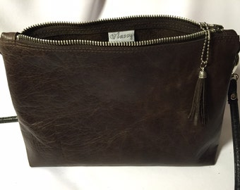 Small purse made genuine leather
