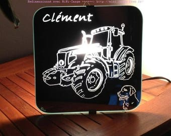 "Mirror craft engraving ""Tractor"" applique"