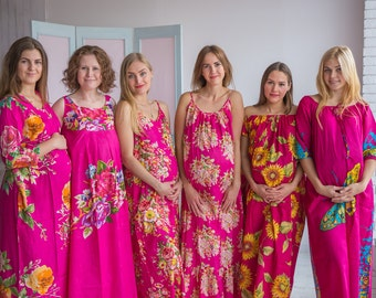 Stork Dreams Magenta - Maternity Nightgown, Maternity Nightie, Maternity Bed Gown, Pregnancy Nightdress, Pregnancy Pjs, Baby Shower Gift