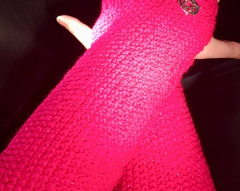 Fingerless Gloves, arm warmers, wrist warmers, Long fingerless mittens, gifts for her, women's gloves,texting gloves, Knitted Gloves