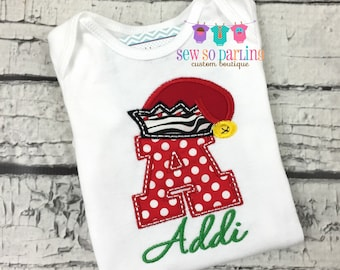 Christmas Baby Shirt - Baby Girl Christmas  Outfit - Baby Girl Christmas Shirt - Santa hat christmas shirt - Girl christmas clothes