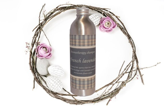 "Sulfate-free aromatherapy shampoo against hair loss and dandruff ""French lavender"""