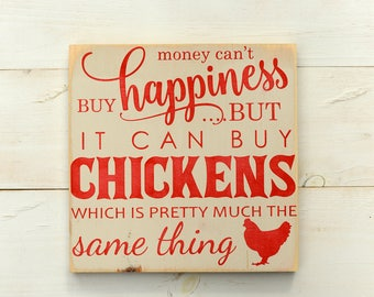 Chicken Sign - Chicken Art - Chicken Wall Art - Chicken Wood Sign - Chicken Decor - Chicken Gift - Chicken Farmer - Farm Sign
