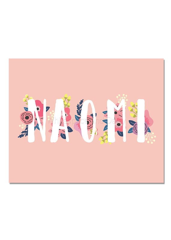 Naomi personalized name sign baby gift custom name art naomi personalized name sign baby gift custom name art printable name sign printable art printable wall art birthday party decor negle Choice Image