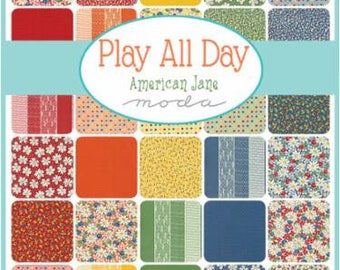 PRE-RELEASE Play All Day by American Jane Patterns for Moda 2 Charm Square Packs
