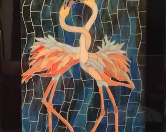 Wild Love:  Flamingoes Tile