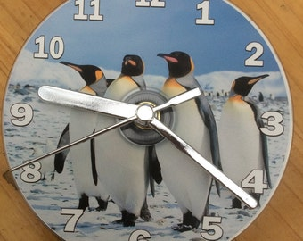 PENGUIN PALS CD Clock (Can be Personalised)