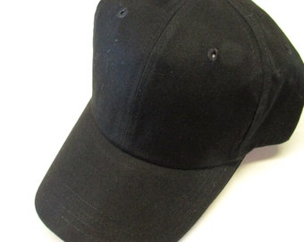 Black Ball Cap Hats for Men or Women Personalized Monogrammed