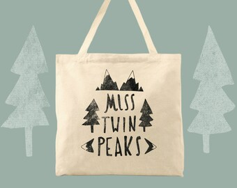 Miss Twin Peaks cotton canvas tote bag