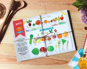 Grandes cartes du Calendrier perpétuel des fruits & légumes de saison
