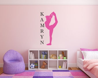 Cheerleader Wall Decal Cheer Sticker Girl Name Room Wall Decor Vinyl Decal Sticker - Personalized Cheerleader Scorpion