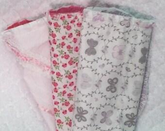 Baby burp cloths set of 3