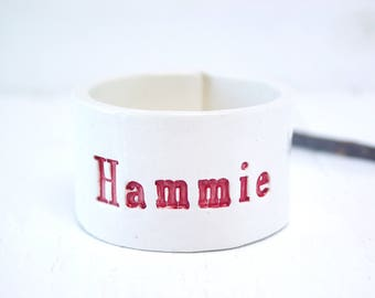 Hammie Hamster Bowl. Very Small Bowl For Very Small Companions.  In Red.