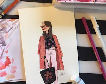 "Fashion print 5X7"""