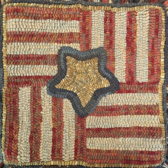 """Rug Hooking Kit for """"Four Part Harmony""""  15"""" x 15"""" Mat/Pillow   K116"""