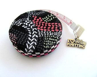 Tape Measure Knitting Stitches Pocket Retractable Tape Measure