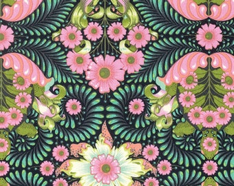 The Tortoise  in Strawberry Kiwi  PWTP085 - Tula Pink  SLOW and STEADY - Free Spirit Fabric - By the Yard