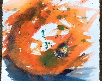 Orange 3  - Original watercolour #easybuy watercolour