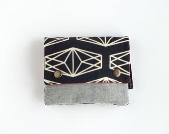 Monedero de de tela geometrica