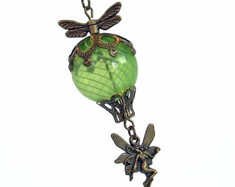 Flight of the Absinthe Fairy - Hot Air Balloon Necklace Jewelry Jewellery