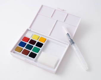 Sakura Koi watercolors, pocket field sketch set, 12 pans