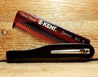 Kent - 20T - Folding Beard Comb - Men's Grooming - Men's Gift
