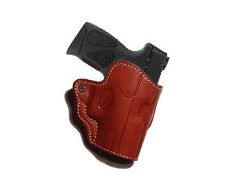 Leather Belt Holster for Taurus PT111 OWB Right Hand