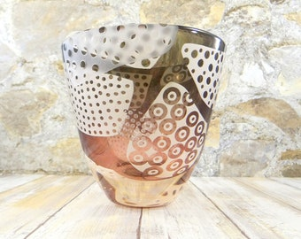 Studio Art Glass Vase by Margery Pearl