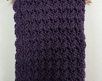 Scalloped Purple Baby Blanket
