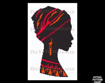 African Woman Cross Stitch, African Woman Silhouette, Africa Cross Stitch, African Pattern, Africa Silhouette by NewYorkNeedleworks on Etsy