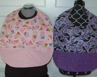 Adult bibs L or XL, clothing protector, cover,