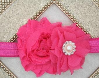 Hot pink baby headband, hot pink Easter headband, Easter baby girls headband, newborn headbands, infant headbands, girls baby shower gift