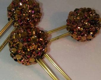 Rose gold bling clip
