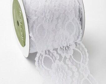 wide white lace,simple, elegant ,wedding diy decor farmhouse,romantic  By The Yard