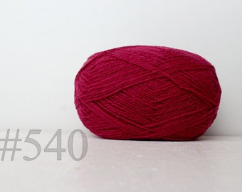 WOOL yarn 100%-Wool for knitting, crochet, - lipstick pink #540