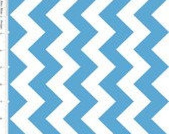 ONLY 3.50 per yard!  Riley Blake Medium Chevron in Medium Blue