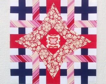Paper Piecing - Leo #243 - Zodiac Block of the Month - 3 sizes