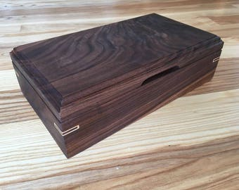 Jewelry Box, Keepsake Box, Trinket Box, Walnut Jewelry Box, Walnut Keepsake Box, Walnut Trinket Box, Handmade Jewelry Box, Handmade Box