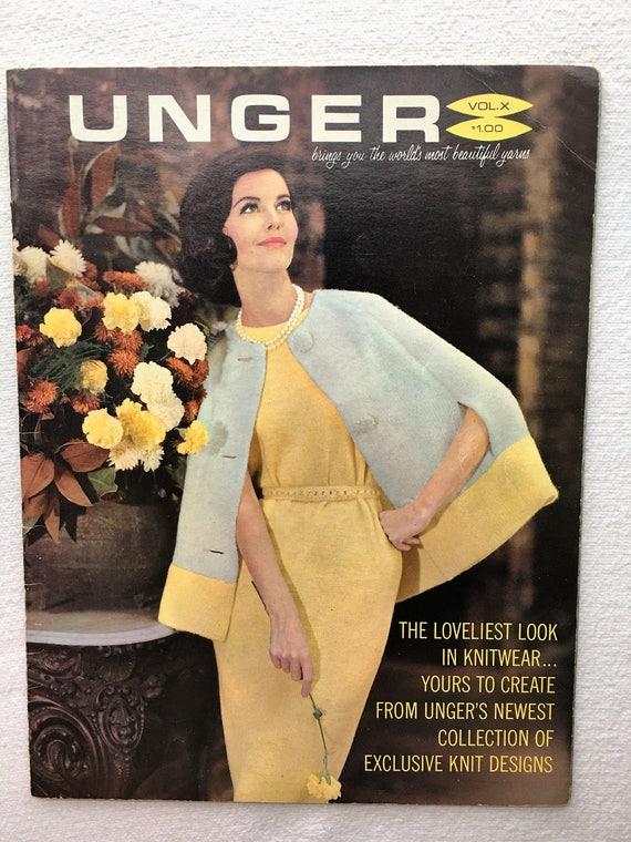Knit Book Crochet Magazine Vintage 1960s Ladies Dresses Coat Jacket