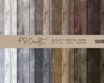 Wood Digital Papers, Wood Digital Papers, Rustic Wood Textures, Wooden Pattern