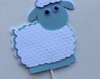 Sheep  centerpieces stick/ Sheep Baptism/ Sheep birthday party/ Sheep decorations