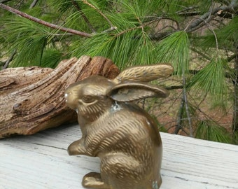Vintage Brass Rabbit Home Decor