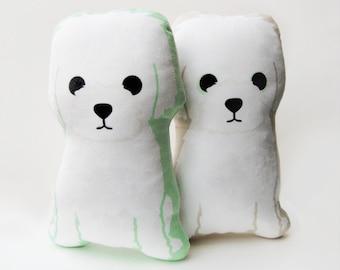 Little White Dog Plush Pillow