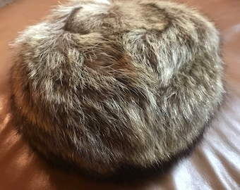 Formal women's fur pillbox hat