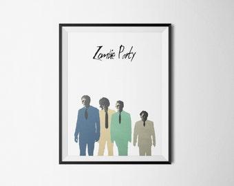 minimalist print poster - Zombie Party