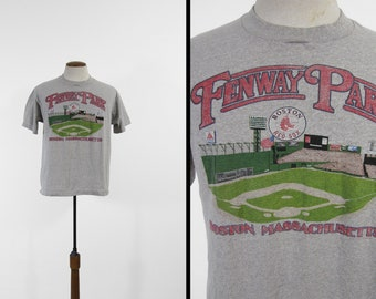 Vintage des années 80 Fenway Park T-shirt Boston Red Sox Heather gris Made in USA - taille XL