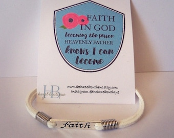 Faith Bracelet Faith In God Gifts Baptism Gift