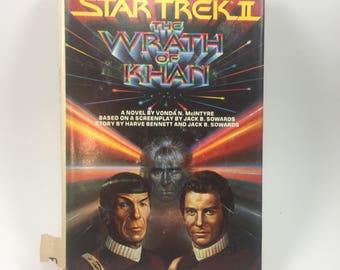 Star Trek II, The Wrath of Khan, by Vonda N. McIntyre, 1982 Hardback