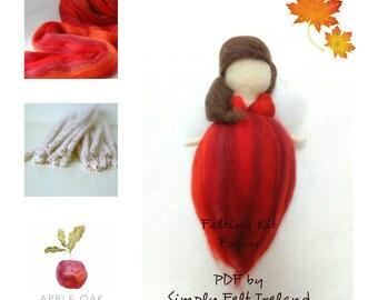 FAIRY FELTING KIT ~ Angel or Fairy felting kit, Wool felting kit, needle felting Kit, DiY Kit, Make your own kit, children's project